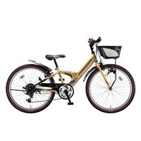 【自転車】【全国配送】エクスプレスjrEX06外装6段変速20インチゴールド【別送品】
