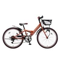 【自転車】【全国配送】エクスプレスjrEX06外装6段変速20インチオレンジ【別送品】