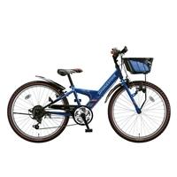 【自転車】【全国配送】エクスプレスjrEX26外装6段変速22インチブルー&ブラック【別送品】