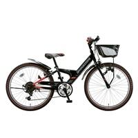 【自転車】【全国配送】エクスプレスjrEX26外装6段変速22インチブラック&レッド【別送品】