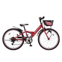 【自転車】【全国配送】エクスプレスjrEX26外装6段変速22インチレッド【別送品】
