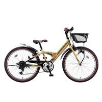 【自転車】【全国配送】エクスプレスjrEX26外装6段変速22インチゴールド【別送品】