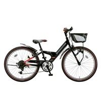 【自転車】【全国配送】エクスプレスjrEX46外装6段変速24インチブラック&レッド【別送品】