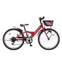 【自転車】【全国配送】エクスプレスjrEX46外装6段変速24インチレッド【別送品】