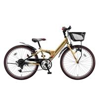 【自転車】【全国配送】エクスプレスjrEX46外装6段変速24インチゴールド【別送品】