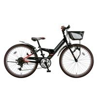 【自転車】《ブリヂストン》エクスプレスjr EX66 外装6段変速 26インチ ブラック&レッド【別送品】