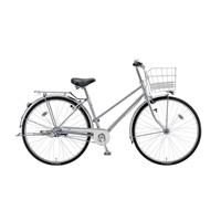【自転車】【全国配送】《ブリヂストン》 シティ車アスモ 内装3段 LEDオートライト 27インチ シルバー【別送品】