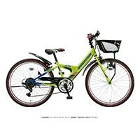 【自転車】《ブリヂストン》エクスプレスジュニア 外装6段 20インチ ネオンライム&ブルー