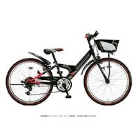 【自転車】《ブリヂストン》エクスプレスジュニア 外装6段 22インチ ブラック&レッド