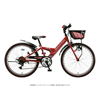 【自転車】《ブリヂストン》エクスプレスジュニア 外装6段 22インチ レッド