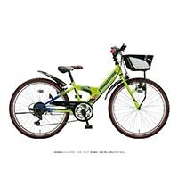 【自転車】《ブリヂストン》エクスプレスジュニア 外装6段 22インチ ネオンライム&ブルー