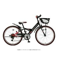 【自転車】《ブリヂストン》エクスプレスジュニア 外装6段 24インチ ブラック&レッド
