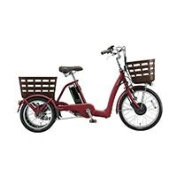 【自転車】《ブリヂストン》ラクあし電動アシスト自転車 FRONTIA フロンティアラクットワゴン FW0B40 T.Xルビーレッド