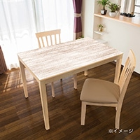 貼ってはがせるテーブルデコ ホワイトウッド 90×150cm