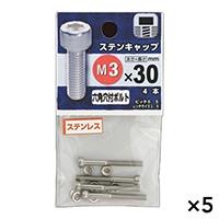 【ケース販売】ステンキャップ 3X30×5個[4979874461384×5]