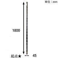 【SU】焼桐支柱 1800×30×45【別送品】