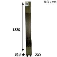 【SU】焼桐集成材(耳付) 1820×17×200【別送品】