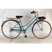 【自転車】【全国配送】《イーストボーイ》通学シティ車デラックス 内装3段 LEDオートライト 27インチ ブルー【別送品】