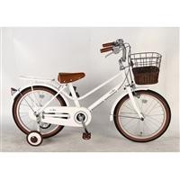 【自転車】【全国配送】《イーストボーイ》補助輪付き子供用自転車 キッズ 16インチ ホワイト【別送品】