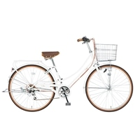 【自転車】【全国配送】《シナネン》軽快イーストボーイカジュアル外装6段オートライト 26インチ ホワイト【別送品】