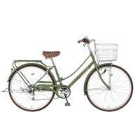 【自転車】【全国配送】《シナネン》軽快イーストボーイカジュアル外装6段オートライト 26インチ オリーブ【別送品】