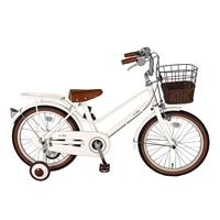 【自転車】【全国配送】《シナネン》イーストボーイキッズ 18インチ ホワイト【別送品】