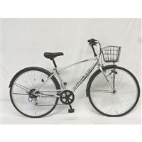【自転車】クロスバイク CAVALLO 外装6段 27インチ シルバー G6HD【別送品】