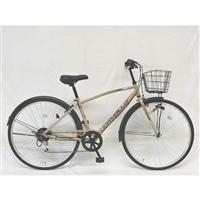 【自転車】クロスバイク CAVALLO 外装6段 27インチ Sベージュ G6HD【別送品】
