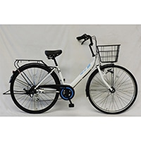 【自転車】【全国配送】軽快車 REFLET 外装6段LEDオートライト 27インチ ホワイト/ブルー【別送品】