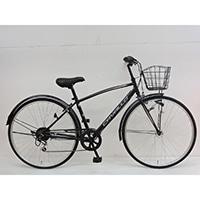 【自転車】《シナネンサイクル》クロスバイク カバロ CAVALLO 27インチ 外装6段2 ブラック