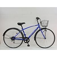 【自転車】《シナネンサイクル》クロスバイク カバロ CAVALLO 27インチ 外装6段2 ブルー
