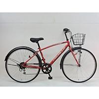 【自転車】《シナネンサイクル》クロスバイク カバロ CAVALLO 27インチ 外装6段2 レッド