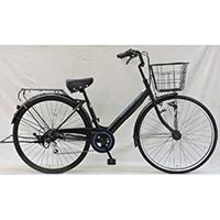 【自転車】《シナネンサイクル》軽快車 リフレ 27インチ 外装6段 オートライト2 ブラック/ブルー
