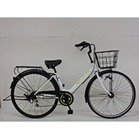 【自転車】《シナネンサイクル》軽快車 リフレ 27インチ 外装6段 オートライト2 ホワイト/グリーン