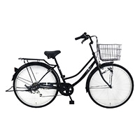 【自転車】《シナネンサイクル》FMC266BHD-CZ タウン26・6S プレストHD ブラック
