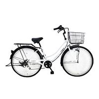 【自転車】《シナネンサイクル》FMC266BHD-CZ タウン26・6S プレストHD ホワイト