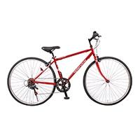 【数量限定・自転車】《シナネンサイクル》HCR276 クロスバイク27・6S スプレンテッドクロス WPC レッド