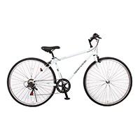 【数量限定・自転車】《シナネンサイクル》HCR276 クロスバイク27・6S スプレンテッドクロス WPC ホワイト