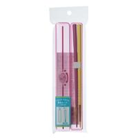箸箱セット ペンシル 18cm ピンク