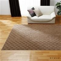 折畳カーペット プレオ 江戸間 6畳 ブラウン