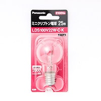 パナソニック ミニクリプトン電球 LDS100V22WCK