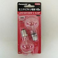 パナソニック ミニクリプトン電球 LDS100V36WCK2P