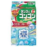大日本除虫菊 金鳥 ゴンゴン アロマ防虫 引き出し・衣装ケース用 24個入り ライムソープの香り