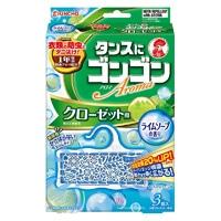 大日本除虫菊 金鳥 ゴンゴン アロマ防虫 クローゼット用 3個入り ライムソープの香り