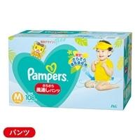 P&G パンパース さらさらケア 風通しパンツ Mサイズ[6-11kg] スーパージャンボ クラブパック 108枚(54枚×2個)