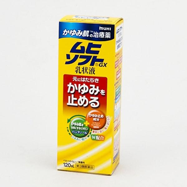 【第3類医薬品】池田模範堂 ムヒソフトGX乳状液 120ml