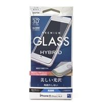 iPhone8曲面保護ガラス高光沢3DSフレームW