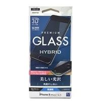 iPhone8曲面保護ガラス高光沢3DSフレームK