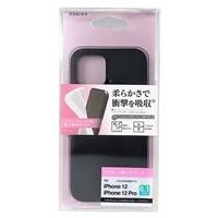 ラスタバナナ iPhone12 12 Pro ケース カバー ソフト シリコン ブラック アイフォン スマホケース 5768IP061SI