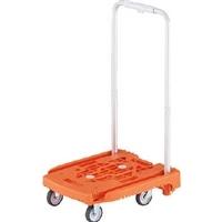 TRUSCO 伸縮ハンドル式樹脂台車 アイドルキャリー weego オレンジ WP2 OR